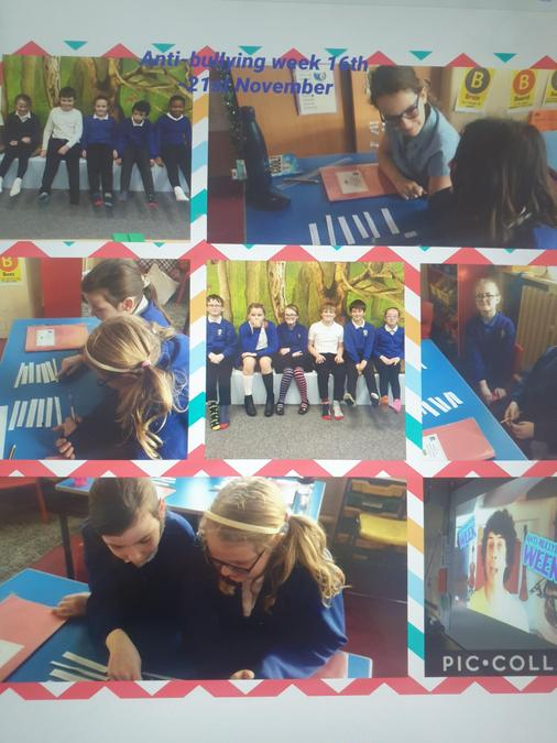 Children wore odd socks and learnt what bullying is.