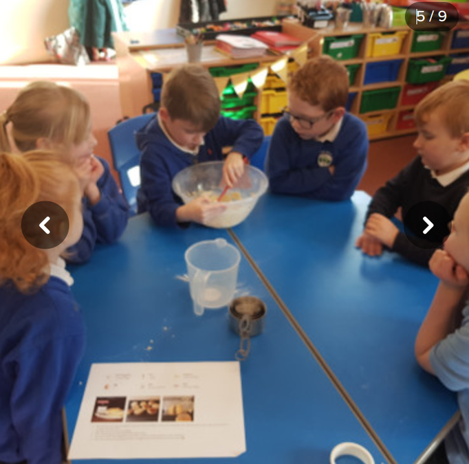 This picture is the children making scones for their own tea party!!