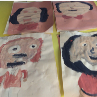 Can you spot who this is?  In year 1/2 we really enjoyed using our creative talents.