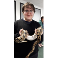 Adam was brave enough to hold the snake!
