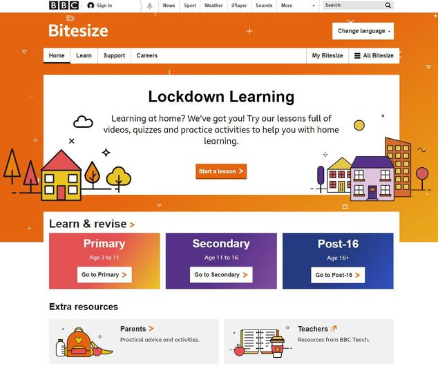 BBC website to help with all areas of education.