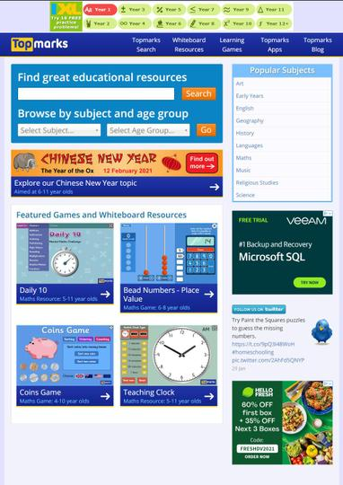Interactive resource for all areas of learning