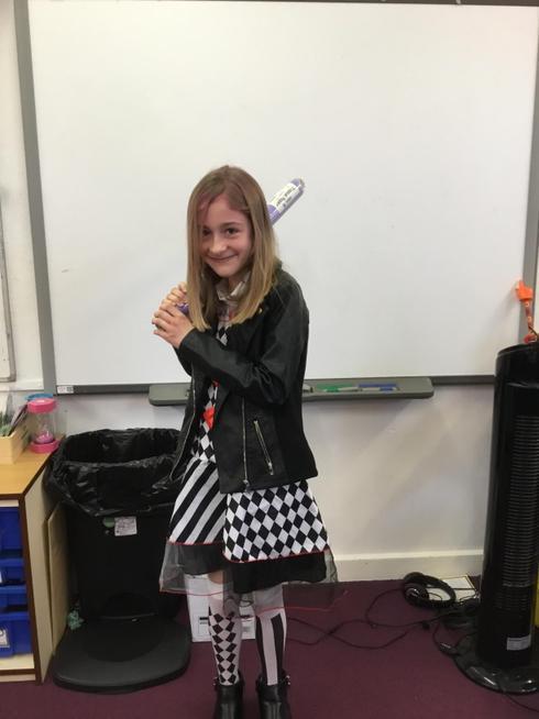 Harlequin wielding 'tissue paper'
