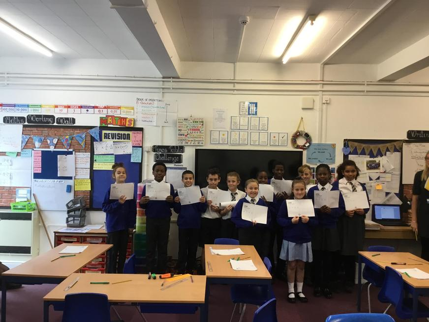 All of these children achieved their top scores yet today!