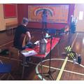 Darren writes the sea shanty using the children's ideas