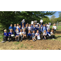 Year 1 Nightingale Class created artwork in Minster's Forest Area