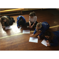 Pupils brainstorming their ideas for the sea shanty