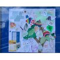 Pupils created leaves with positive messages