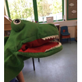 Alan the Alligator loves to visit the dentist with the children.