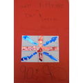 Oscar G's birthday card for the Queen,