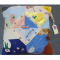 Sophie M's cushion depicting Britain's four season