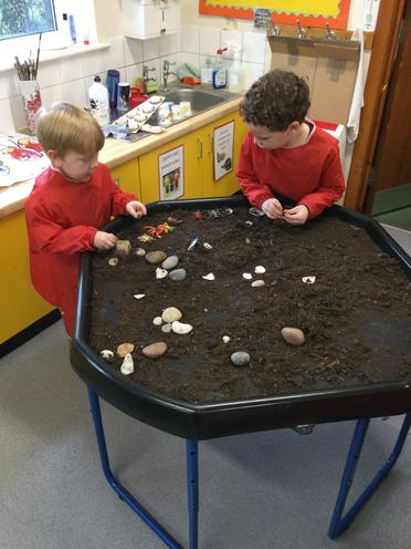 We love to play in the tuff spot investigating Superworm and his friends.