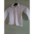 White polo top (long sleeve)