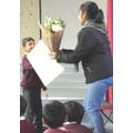 Junior school children show their appreciation