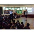 PC Shepherd talks to pupils about road safety