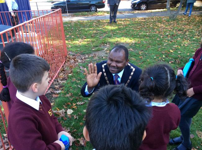 Meeting The Deputy Mayor - Mr Ernest Ezeajughi.