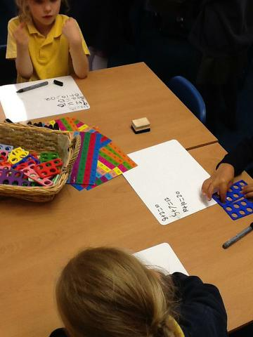 Using numicon to make our number sentences