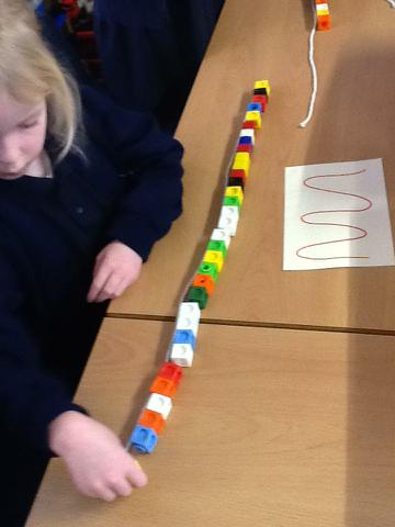 Wow look how long the wiggly line is in cubes!