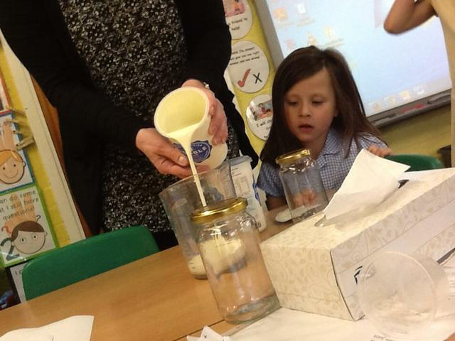 Making our own butter!
