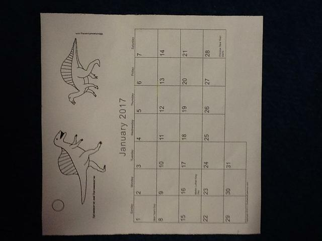 We used a calendar to find different days & dates
