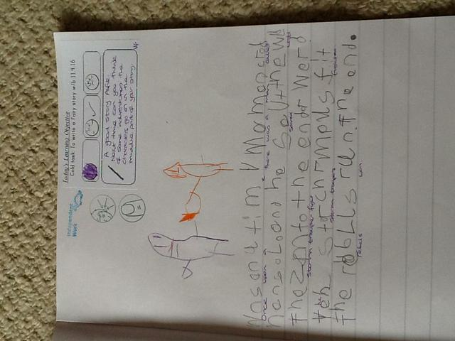 Our first attempt at writing a fairy tale