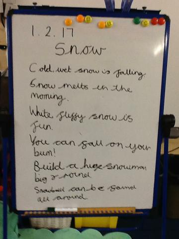 Our class rhyming poem about Snow!