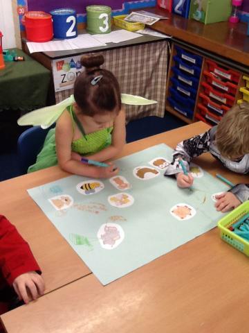 Brainstorming animal verbs
