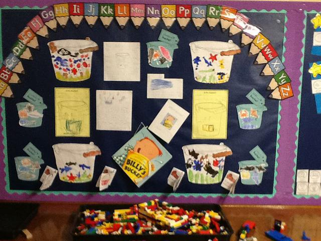 Billy's Bucket Display in the classroom