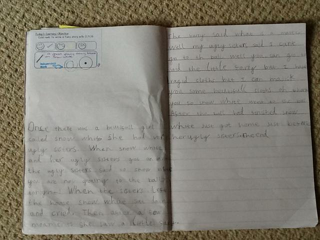 Our first attempt at writing fairy tale