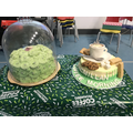 The winning cakes from Macmillan coffee morning