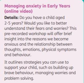 Managing anxiety for early years children