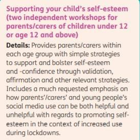 Supporting your child's self esteem