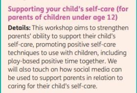 Supporting your child's self-care