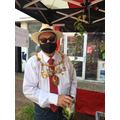 Chorley Mayor Steve Holgate on his market stall