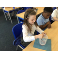 Year 4 investigating which fizzy drink had the most carbon dioxide.