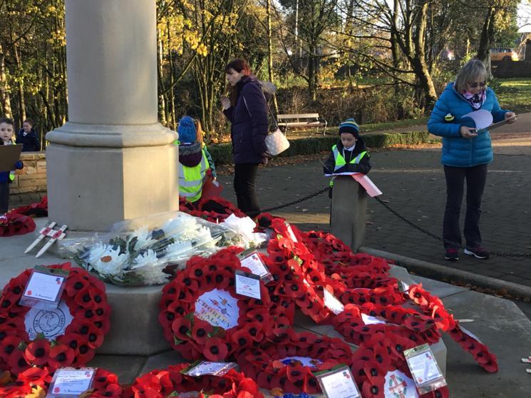 Visit to Chorley Cenotaph