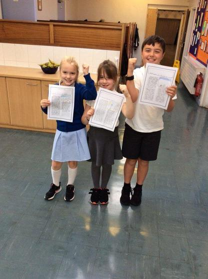 Y4 were newspaper reporters to retell the story of David and Goliath.