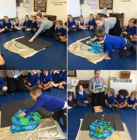 Reception learned about the creation of our world and God's plan.
