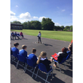 Y5 rehearsals go outdoors