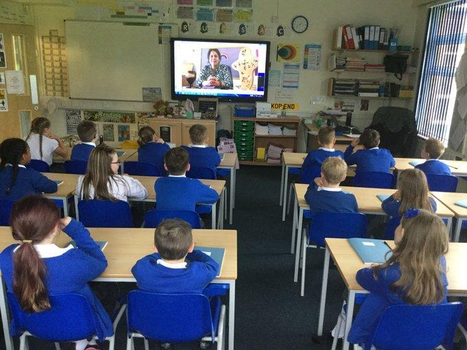 Class worship with Mrs Marquis over zoom!