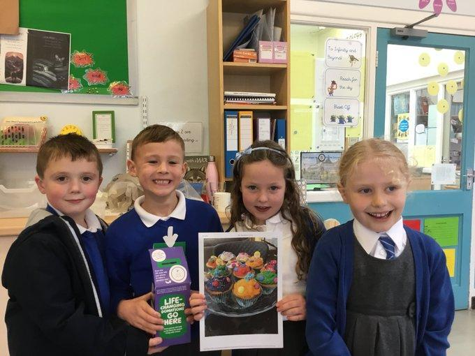 We raised £92 through our cupcake challenge for Derian House.