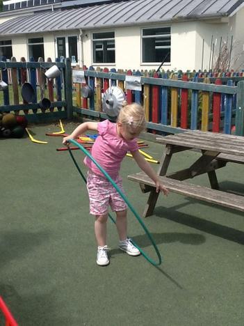 Practising Hula Hoop
