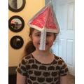 Ava's Norman Soldier Helmet!
