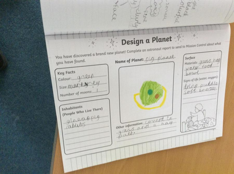 We've been designing planets