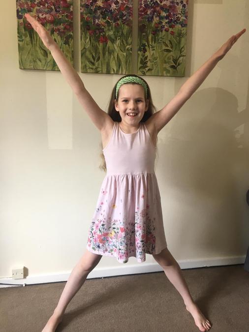 Brooke did star jumps!