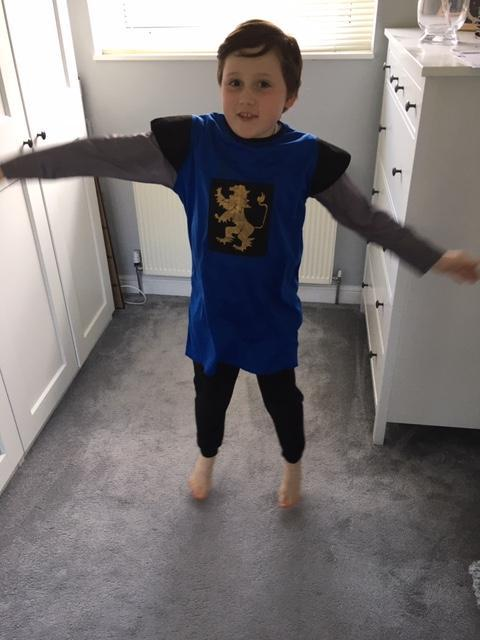 William did star jumps.