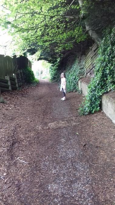 Bronwyn went for a walk.