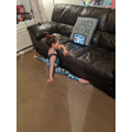 Doing gymnastics at home!