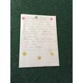 Vivien- for showing perseverance in her writing