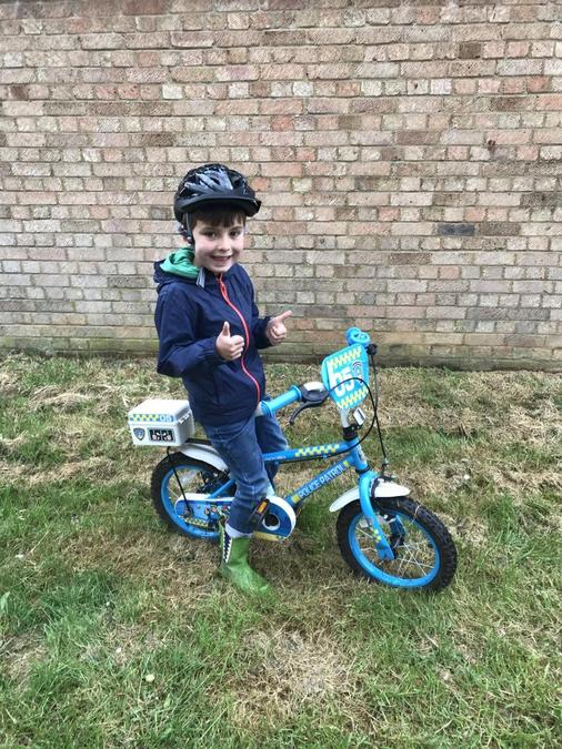 Conor rode his bike!